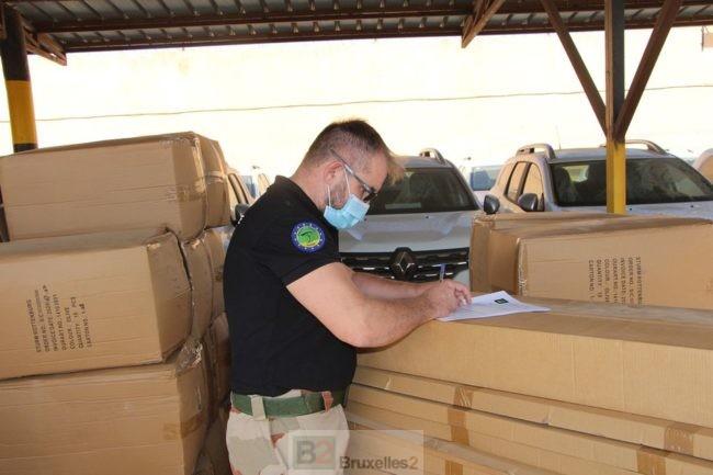 Livraison de matériel à la compagnie en charge des frontières