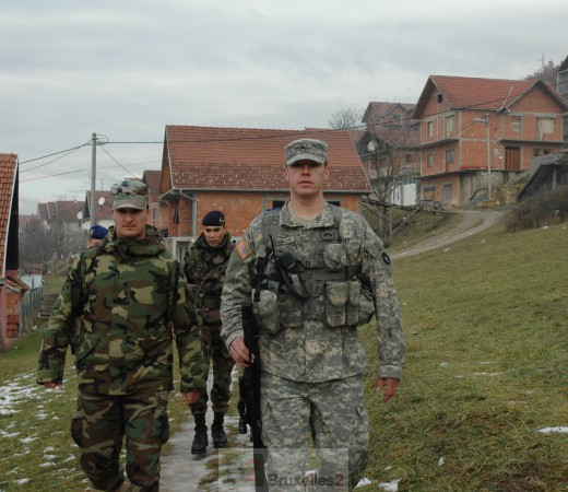 Patrouille Franco-Américaine à Lesak © B2 / NGV