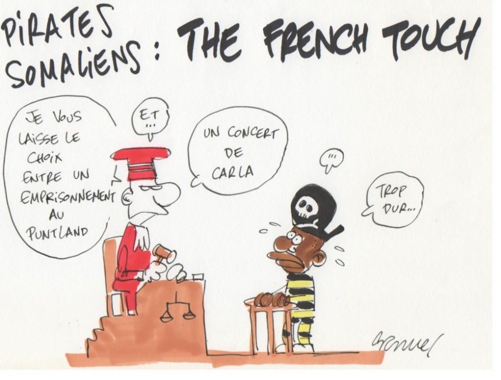 Traitement en justice des pirates : la solution française