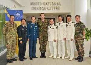 Visite chinoise au quartier général d'EUNAVFOR