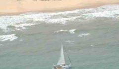 Le skipper sud-africain sain et sauf. Récit d'un week-end mouvementé