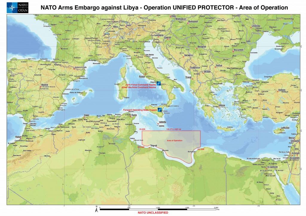 Quelle zone va couvrir l'opération de contrôle d'embargo sur les armes ? (maj)