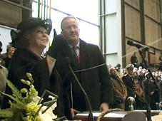 Pendant les révoltes, les affaires continuent. La Reine Beatrix à Oman