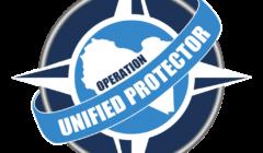 L'OTAN se met en ligne sur la Libye. Logo et organigramme de «Unified protector»