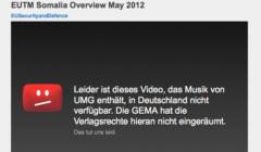 Une video du SEAE bloquée pour violation de droits d'auteur