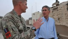DEFENCE SECRETARY VISITS AFGHANISTAN AS CHANGEOVER OF BRITISH BRIGADES BEGINS