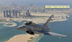 Cameron en VRP de l'Eurofighter dans le Golfe