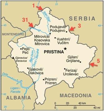 Accord entre Belgrade et Pristina sur un contrôle commun aux frontières
