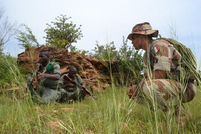 L'encadrement du 3e bataillon en formation