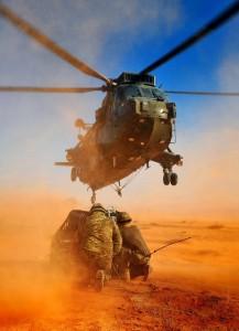 L'Europe n'entend pas montrer sa force. Ici, entrainement des soldats britanniques du 845 Naval Air Squadron en Jordanie aout 2013 (crédit : Armée britannique)