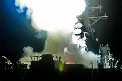 L'USS Barry lors de l'opération en Libye (crédit : US Navy -  mars 2011)