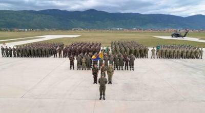 Les troupes d'Althea lors de l'exercice Quick Response en septembre (crédit : EUFOR Althea)