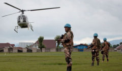 Les hélicoptères de la Monusco ont tiré des roquettes et au canon sur les rebelles du M23 (Crédits: MONUSCO)