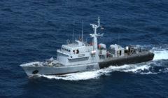 LAndromache, navire des gardes-côtes des Seychelles (crédit : Eunavfor Atalanta)