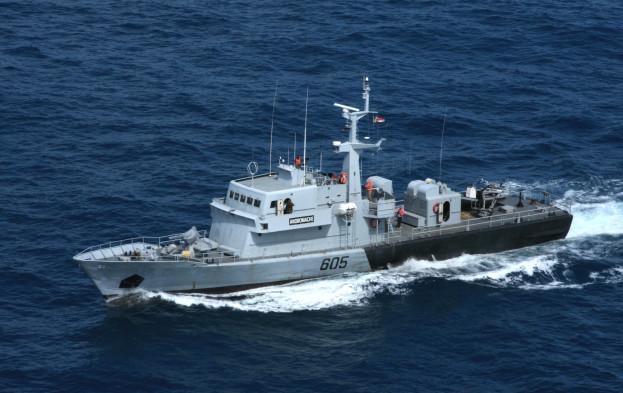 L'Andromache, navire des gardes-côtes des Seychelles (crédit : Eunavfor Atalanta)