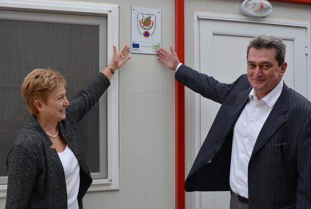 (à droite) Vasil Marinov, ministre de l'Intérieur bulgare (Crédit: Ministère de l'Intérieur bulgare)