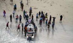 Le baleinier près des côtes somaliennes (crédit : EUNAVFOR Atalanta)