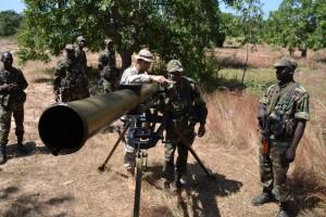 Le lance-roquette Grad équipe EUTM Mali