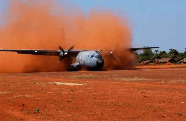Les 420 militaires français de l'opération BOALI assurent le soutien logistique, administratif et technique du volet militaire de la Mission Internationale de soutien à la Centrafrique (MISCA) (Crédits: Ministère de la Défense )