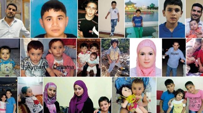Portraits de familles des Syriens qui étaient sur le bateau. Rip (copyright : L'Espresso)