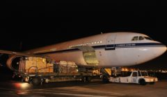LAirbus A330 belge en chargement à Zaventem, en novembre (crédit : armée belge)