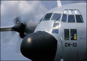 Un C130 Hercules de l'armée belge (crédit : ministère belge de la Défense)