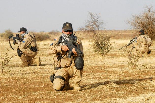 Soldats croates lors de l'opération EUFOR au Tchad 2008 (crédit : EUFOR Tchad / Archives B2)