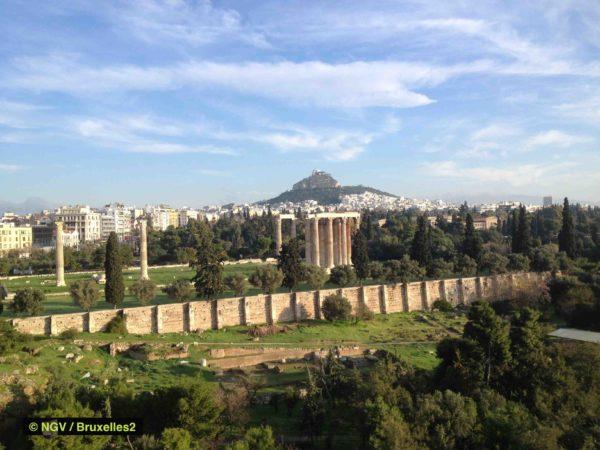 Athènes le 8 janvier, jour de l'ouverture officielle de la présidence de l'UE (© NGV /B2)