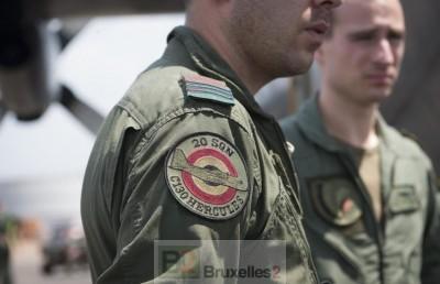 Le détachement C-130 Belge arrive à Bangui (Crédit : DICOD / Ministère Fr de la Défense)