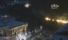 Place Majdan Mercredi 22 janvier (Crédit : Ukrstream.tv)