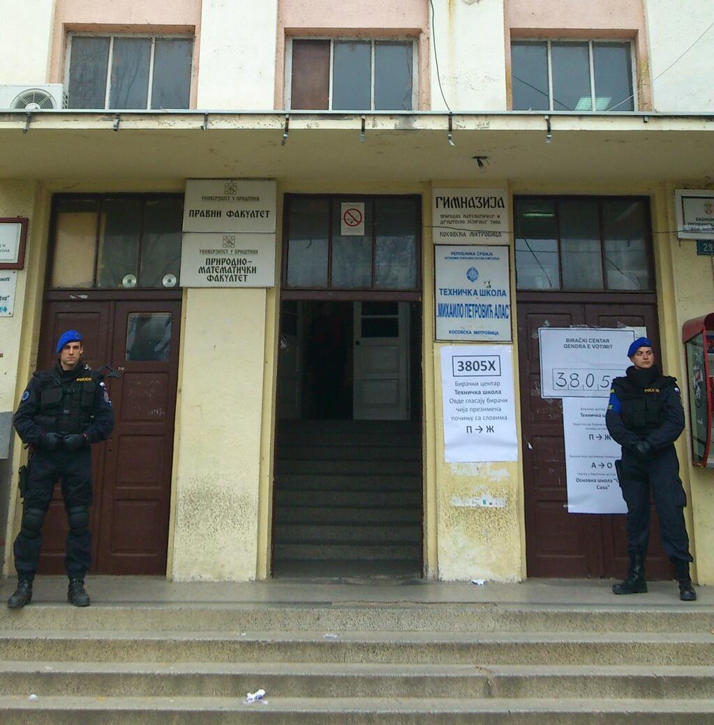 Centre électoral de Mitrovica Nord (Crédit : OSCE)