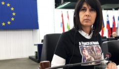 Roberta Angelilli au Parlement européen (crédit : RA)
