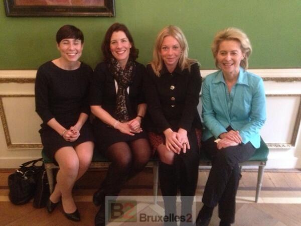 Anne-Grete Strøm-Erichsen (NOR- Karin ENSTRÖM (SUE), Jeanine HENNIS-PLASSCHAERT (NL), Ursule VON DER LEYEN (ALL)