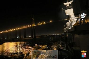 Le Mimbelli dans le canal de Suez  (crédit : Marine italienne)