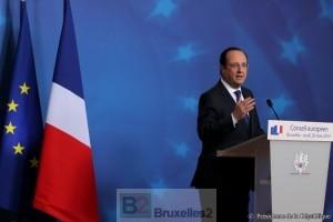 François Hollande face à la presse vendredi (Crédit : Elysée)