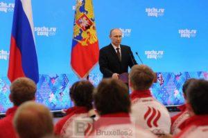 Les JO terminés, la remise au pas de l'Ukraine peut commencer (Crédit : présidence russe)