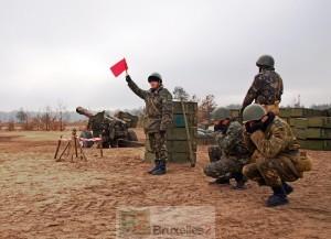 l'armée ukrainienne en exercice (Crédit : Ministère ukrainien de la Défense)