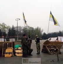 Entrée du campement pro-Russe à Odessa, Loreline Merelle@B2