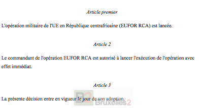 L'opération EUFOR RCA est lancée… avec un manque de souffle européen