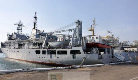Le Balta à quai à Odessa (crédit : marine ukrainienne)