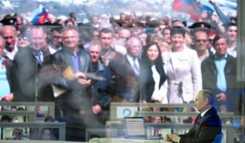 Vladimir Poutine lors du rituel