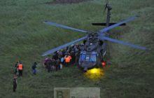 Un hélicoptère autrichien dEUFOR Althea en intervention de secours à Zenica (crédit : EUFOR Althea)