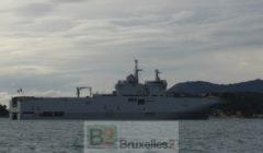 Le BPC Dixmude à Toulon - type Mistral - dont léquivalent sera livré à la Russie... peut-être (© NGV / B2)