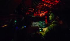 Le cockpitt dun des avions français en cours de largage (crédit : Etat major des armées FR)
