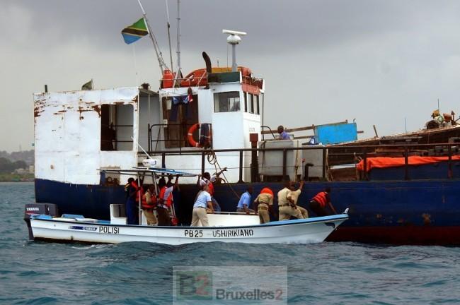 Formation de la police maritime de Zanzibar (crédit : Eucap Nestor)
