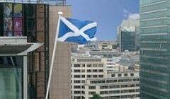 Le drapeau écossais flottera-t-il sur Bruxelles (crédit : Scotland House)