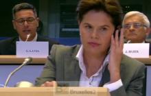 Alenka Bratusek en victime expiatoire des joutes parlementaires (crédit : EBS / B2)