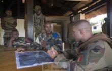 Point de situation entre la MINUSCA Et le GTIA Magenta à NGakobo (près de Bambari) (crédit : Etat-Major des armées / ECPA)