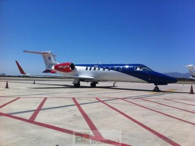"""Un des avions de Air Rescue qui va être équipé """"Ebola"""" (crédit : LAR)"""