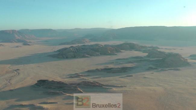 Attention aux mirages ! - désert jordanien (crédit : Marine nationale)